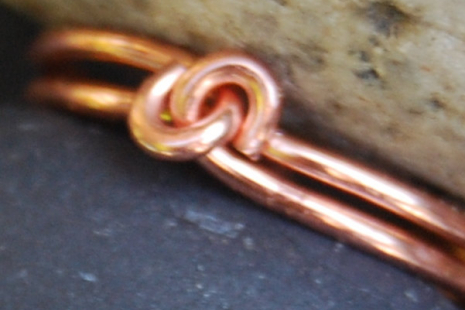 Copper Knot Toe Ring Adjustable