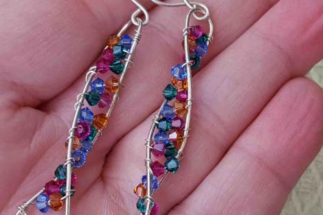 Crystal DNA Earrings