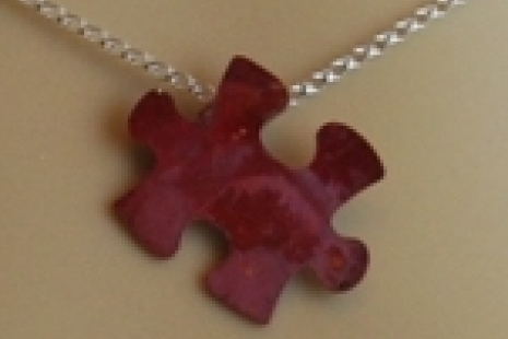 Petite Autism Awareness Puzzle Pendant