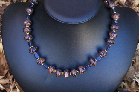 Gold-filled accents with Goldstone Necklace