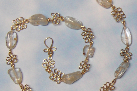 "White Topaz and Gold-Filled 18"" Necklace"