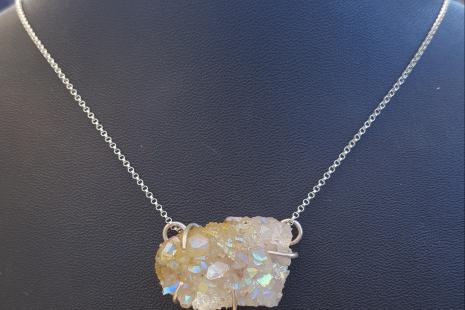 Quartz Crystal Druzy Pendant