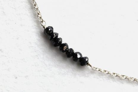 Minimalist Black Diamond Stack Necklace