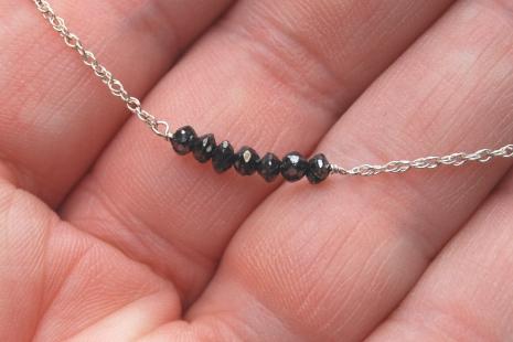 Petite Faceted Black Diamond Choker