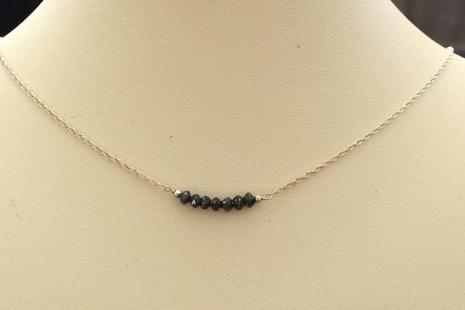 April Birthstone Rustic Diamond Necklace
