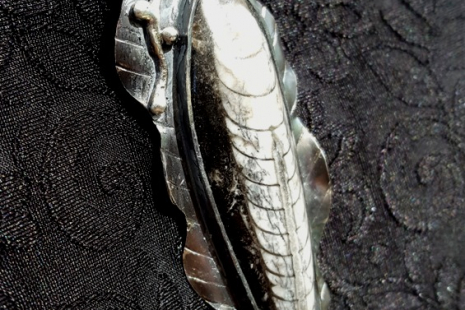 Unisex Rustic Orthoceras Fossil Pendant