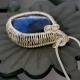 Blue Sodalite Heart Sterling Basketweave Pendant