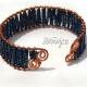 Royal Blue Woven Copper Cuff