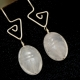 Rose Quartz Scarab dangle earrings Handcrafted