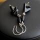 Handcrafted Modern Black Gray Dangle Earrings