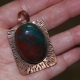 Rich Blood Red and Green Bloodstone Pendant