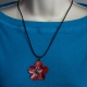 Red Copper Flower Necklace