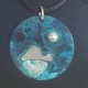 """1-1/4"""" Colorful Copper Disk with SS Pendant Necklace"""