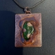 Handcrafted Copper Pendant 3D Green Sea Glass