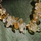 Citrine with Gold Strand Necklace Choker