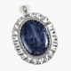 Shimmering Blue Pietersite Sterling Silver Pendant Handmade