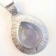 Sweet Blue Chalcedony SS Pendant