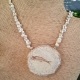 Sterling Silver Netted Fossil Fish Pendant