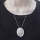 Moonstone Blue Flash Sterling Silver Pendant Handmade
