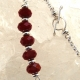 Handcrafted minimalist red quartz stack necklace