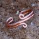 Adjustable Wide Copper Toe Ring