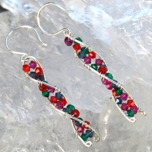 DNA Helix Sterling Silver Earrings