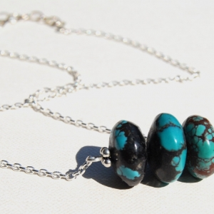 Triple Hubei Turquoise Stacked Necklace
