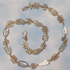 """White Topaz and Gold-Filled 18"""" Necklace"""