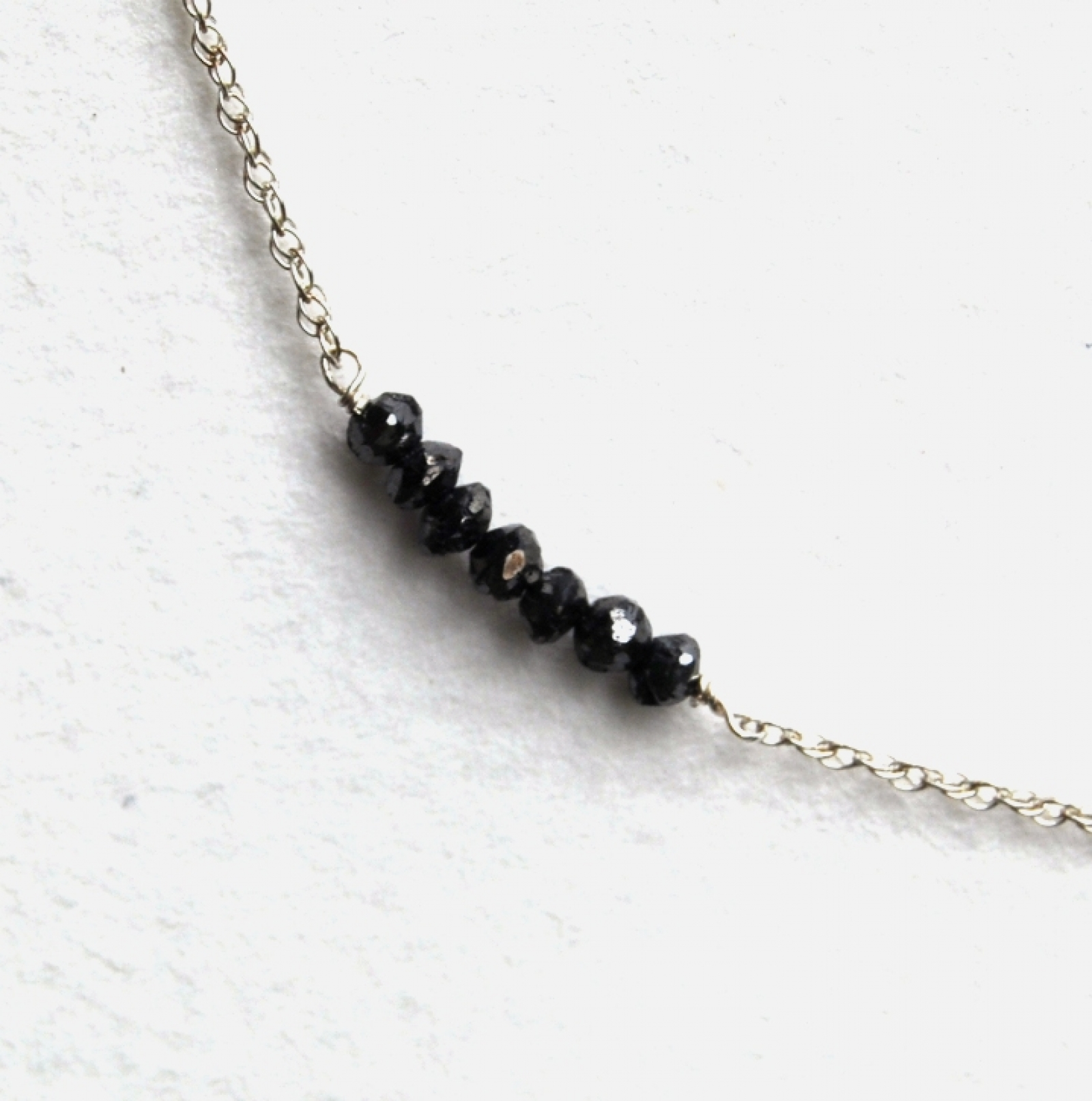 set store diamond silver necklace black