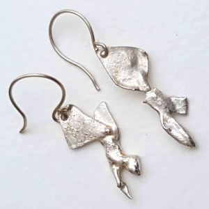 Clone of Dogwood Flower Post Earrings Sterling Silver  Handcrafted Recycled