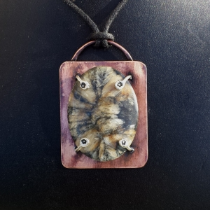 Rare Andalusite Copper Pendant Handcrafted Necklace