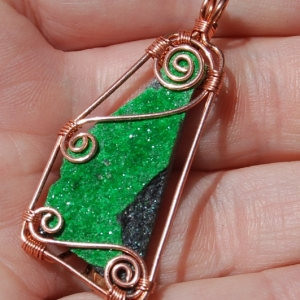 Green Garnet Druzy Pendant