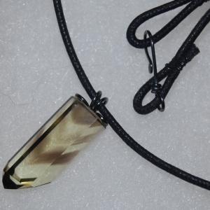 Chevron Crystal Pendant