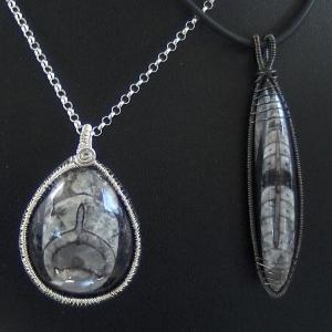 Orthoceras fossil pendants