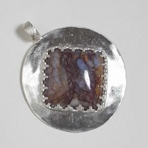 Diamond Pietrersite Sterling Silver Pendant