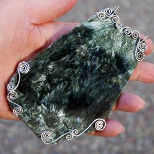 Seraphinite Slab Pendant