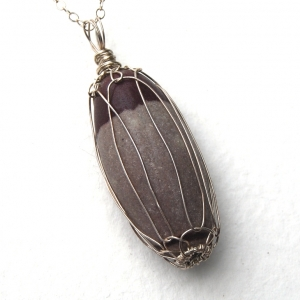 SALE Shiva Lingam Pendant Necklace Sterling Silver Handcrafted